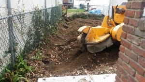 stump grinding machine